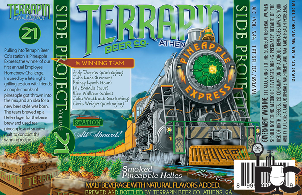 Terrapin Beer Pineapple Express Release Jan 2014