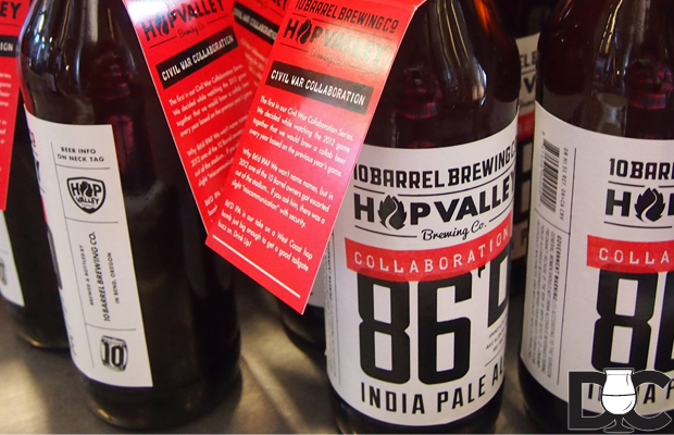 10 Barrel Brewing & Hop Valley Brewing 86'D IPA Civil War Series Collaboration