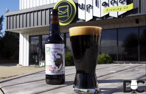 Upland Brewing Komodo Dragonfly Black IPA (Video)