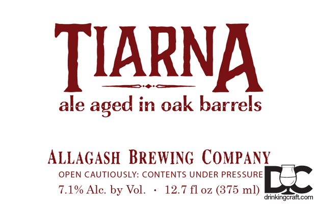 Allagash Brewing Barrel Aged Tiarna Coming Soon