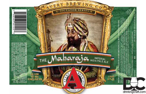 Avery Brewing Maharaja IPA Returns; New World Porter Debuts