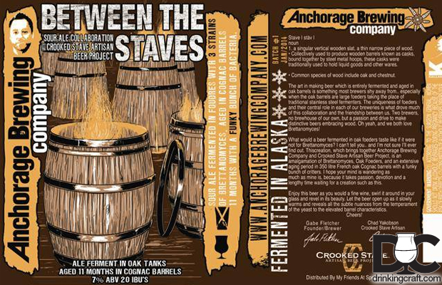 Crooked Stave & Anchorage Brewing Between the Staves Collaboration