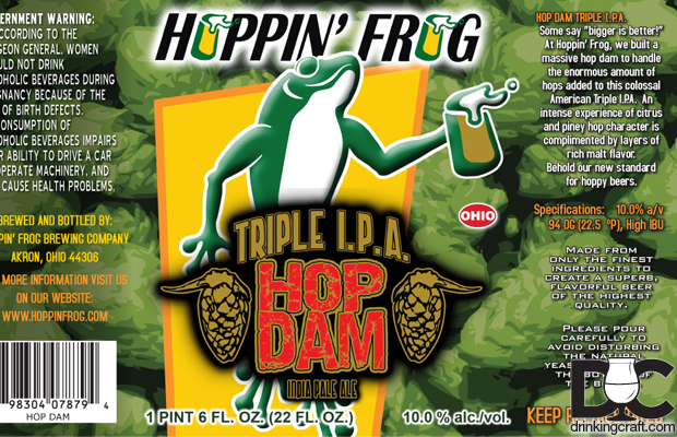 Hoppin Frog Hop Dam Triple IPA Release Dec 13th