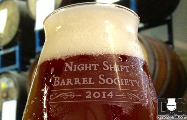 Night Shift Brewing 2014 Barrel Society 85% sold out