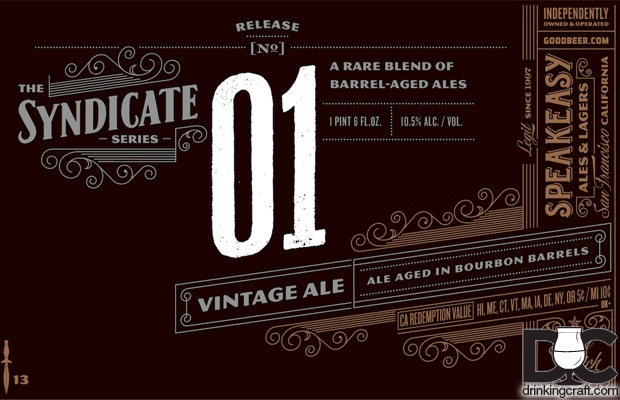 Speakeasy Releases Syndicate No. 01 Bourbon Barrel Vintage Ale