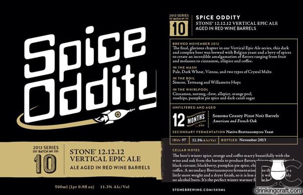 Stone Brewing Spice Oddity Release Dec 15th