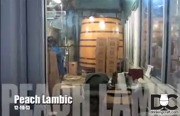 Upland Brewing Peach Lambic Is Back (Video)