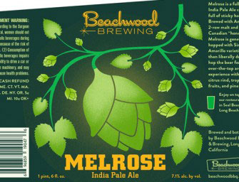 Beachwood Brewing Melrose IPA Returns