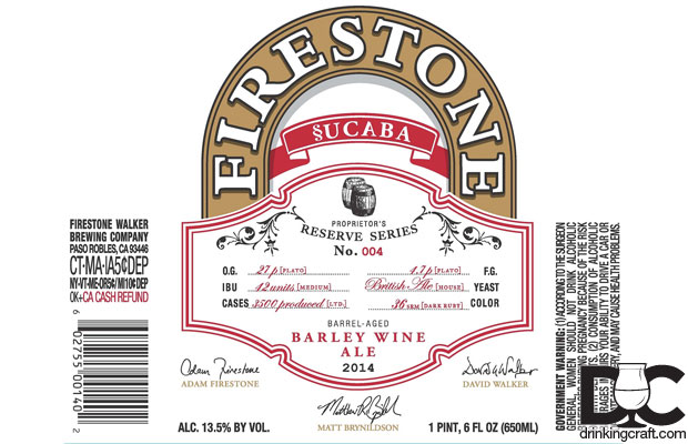 Firestone Walker Releases 2014 §ucaba on January 6