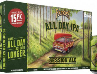 Founders Brewing Introduces 15-pack cans of All Day IPA