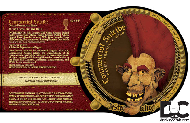 Jester King Commercial Suicide Bottles Available Next Week
