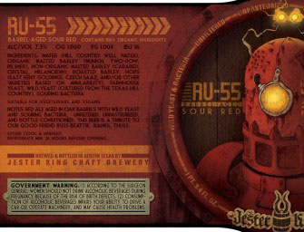 Jester King RU55 Barrel-Aged Sour Red Ale Release Jan 10th