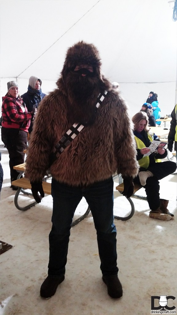 Keeping warm, Wookie style.