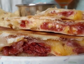 IPA Corned Beef & Cabbage Quesadilla