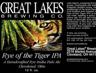 Great Lakes Brewing Rye of the Tiger IPA Release Details
