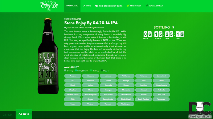 Stone Brewing Enjoy By Website