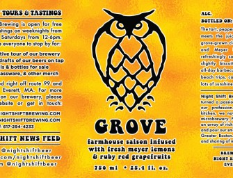 Night Shift Brewing Grove Saison Release Details