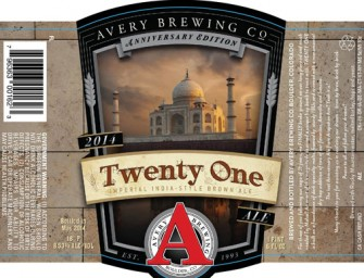 Avery Twenty One Anniversary Ale Release May 16th