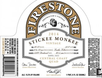 Firestone Walker Stickee Monkee Release May 17th