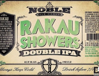 Noble Ale Works Rakau Showers Release May 21st