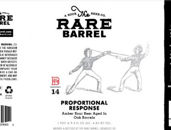 The Rare Barrel Proportional Response BA Sour Amber