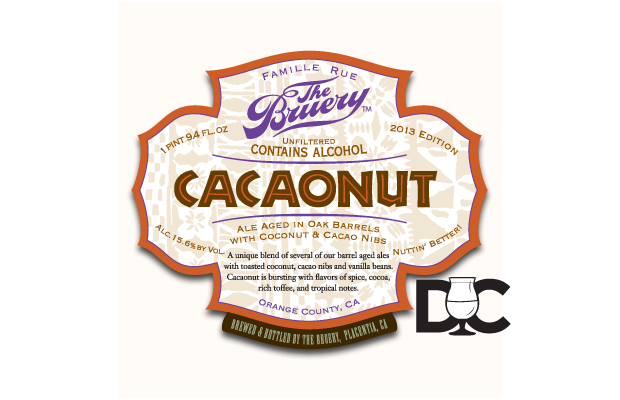 The Bruery – Cacaonut a new Society Exclusive, 2013 Oude Tart on the way