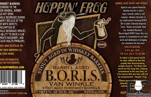 Hoppin' Frog BORIS Van Winkle Release Black Friday