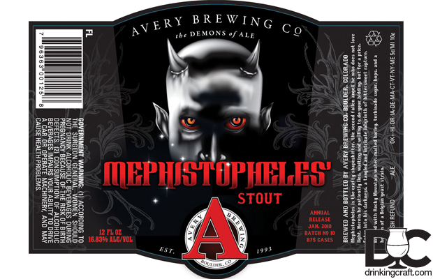 Avery Brewing Mephistopheles Stout Release Dec 13th