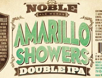 Noble Ale Works Amarillo Showers DIPA Release Feb 26th