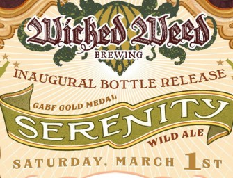 Wicked Weed Serenity 1st Bottle Release GABF Gold Medal Winner